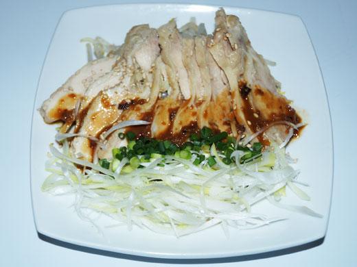 「上海名物」白斬鶏(蒸し鶏)
